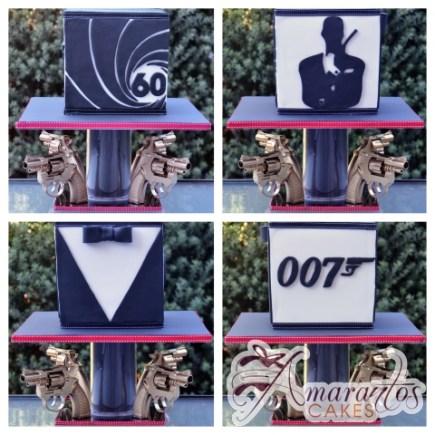 Two Tier James Bond Cake - Amarantos Celebration Cakes Melbourne