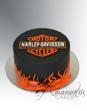 Harlet Davidson Logo Cake - Amarantos Designer Cakes Melbourne