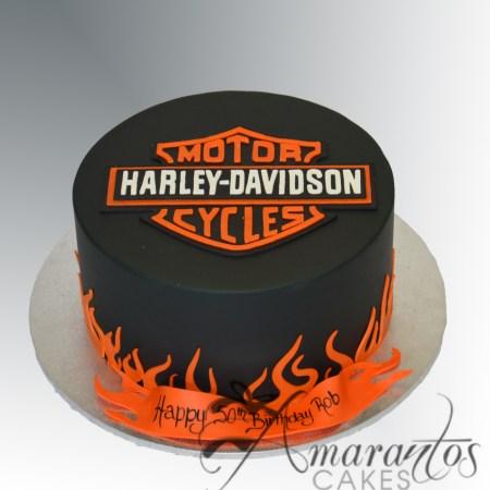 Harley Davidson Logo Cake – NC640