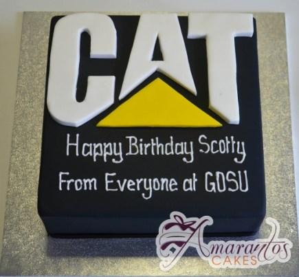 CAT Logo Cake - Amarantos Designer Cakes Melbourne