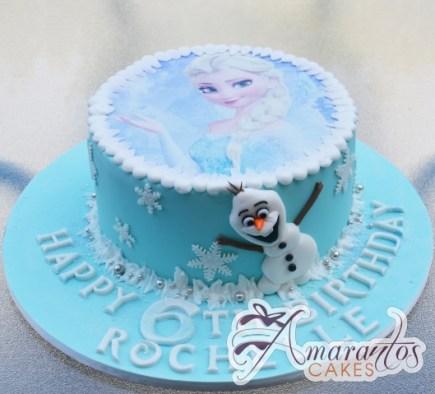 Base With Elsa and Olaf Cake - Amarantos Designer Cakes Melbourne