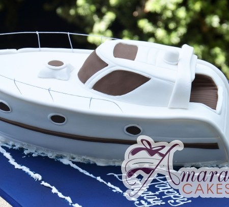 3D Speed Boat - NC665 - Amarantos Birthday Cakes Melbourne