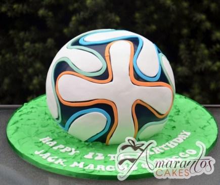 3D Soccerball – NC671 – Amarantos Celebration Cakes Melbourne