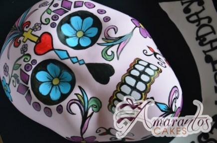 Day of the Dead Mexican Skull - Amarantos Designer Cakes Melbourne