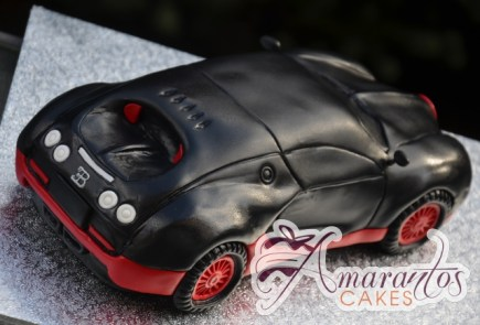 3D Bugatti Veyron Car Cake - Amarantos Designer Cakes Melbourne