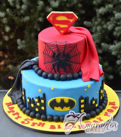 Super hero cake – NC695 – Amarantos Celebration Cakes Melbourne
