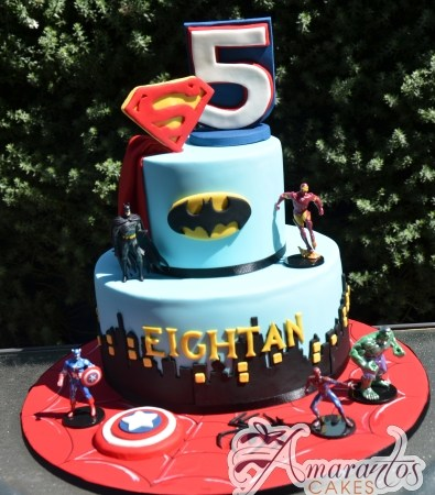Two tier super hero cake – NC705
