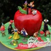 3D Apple With Snow White Characters Cake - Amarantos Designer Cakes Melbourne