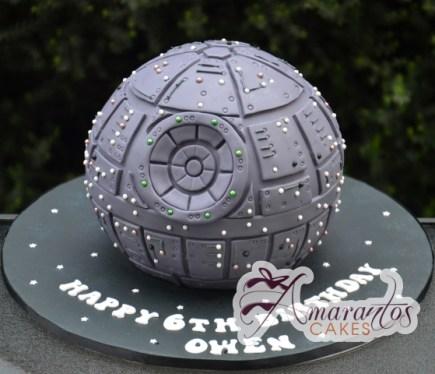 3D Death Star Cake – NC771 – Celebration Cakes Melbourne – Amarantos Cakes