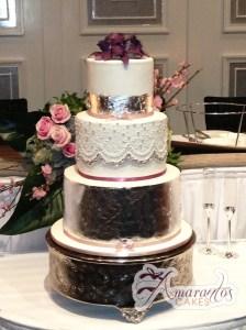Four Tier Cake - WC20A - Amarantos Wedding Cakes Melbourne