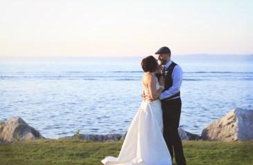 landscape couple shot
