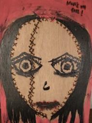 Pintura realizada por la artista brasileña Thamyrys Lisboa (2006)