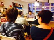 Presentación de 'Amarás América' en la librería Educania el pasado 8 de abril.