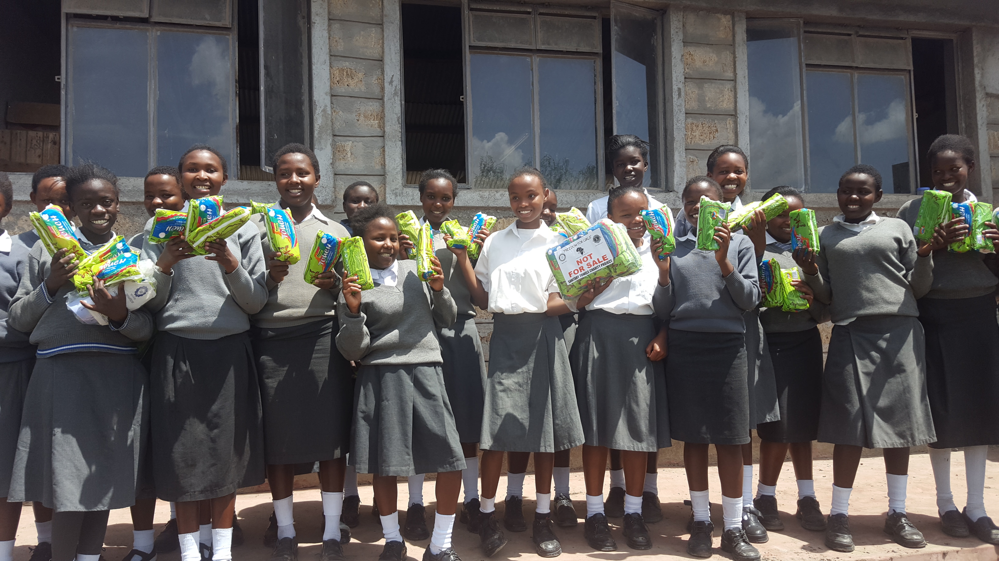 Donation of sanitary towels
