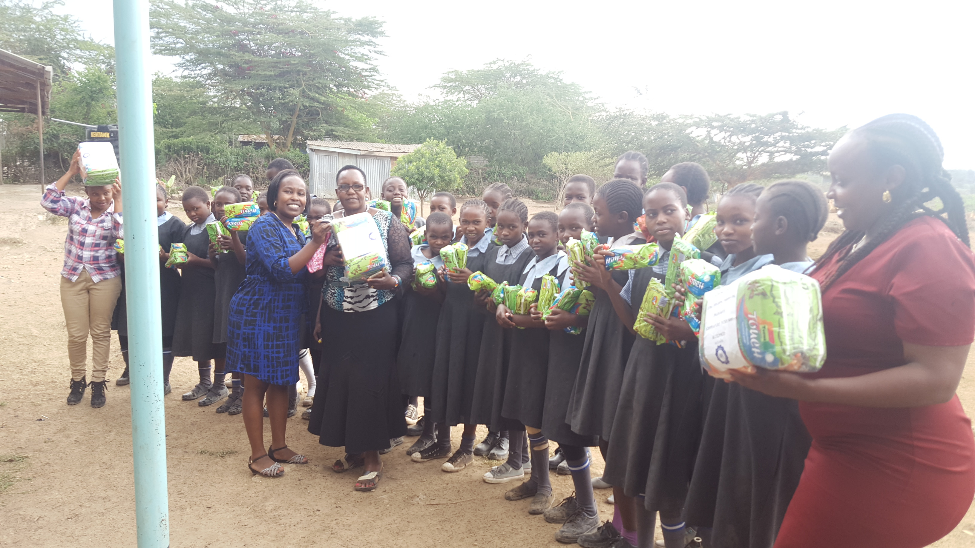 donation of sanitary towels.
