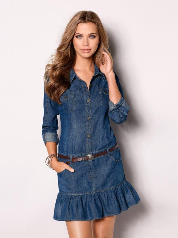vestido-mujer-manga-larga-vaquero-100-algodon-vaquero-medio