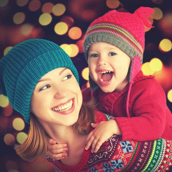 espíritu navideño. Mamá navideña