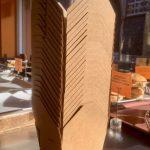 Amaretto Deli's new cardboard take-out boxes.