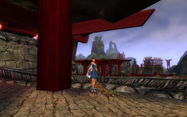 Guild Wars - My Ritualist in my Guild Hall