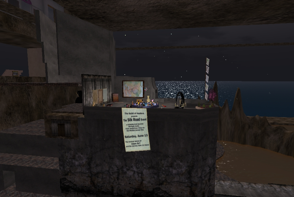 Second Life - event view from further away, June 2009