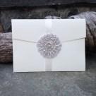Landscape pocket invite with crystal appliqué