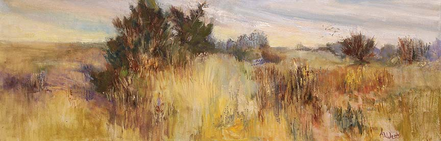 West - Dancing Fields 12x36 Oil