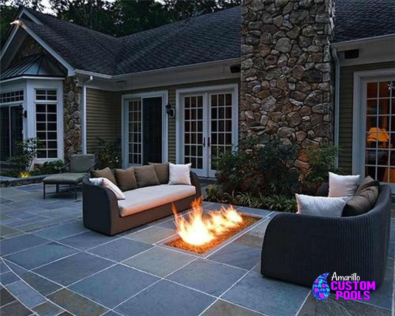 Outdoor Living Outdoor Kitchen Fireplaces Fire Pits Arbors ... on Backyard Patio With Firepit id=65279