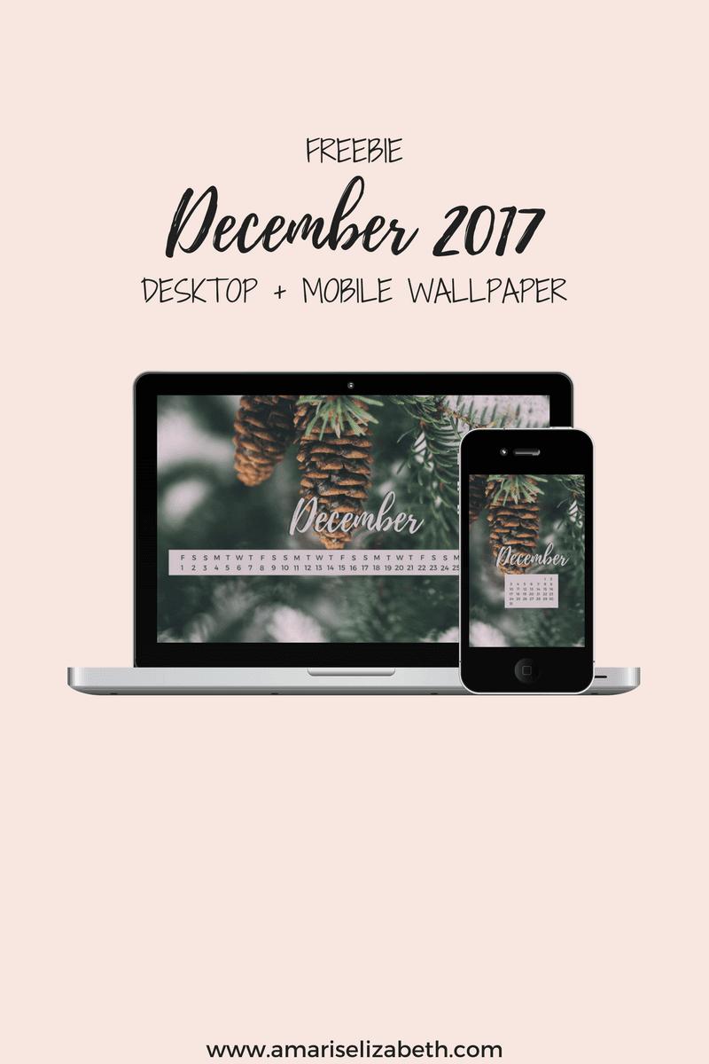Freebie: December Desktop + Mobile Wallpaper