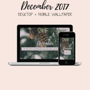 Freebie: December Desktop + Mobile Wallpaper 1