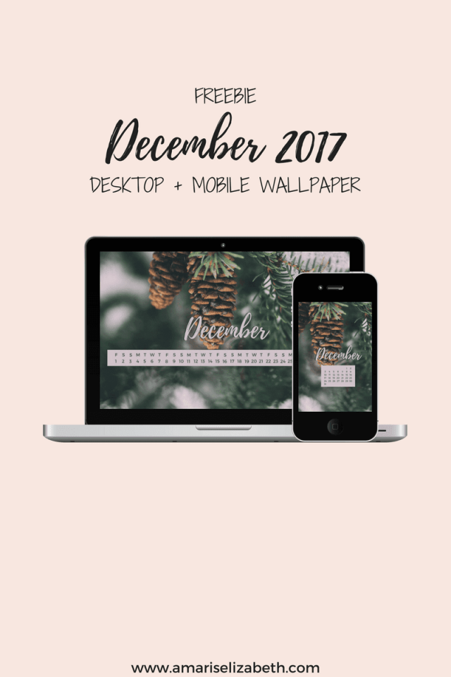 Freebie: December Desktop + Mobile Wallpaper 1