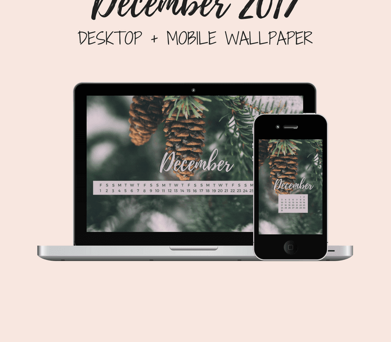 Freebie: December Desktop + Mobile Wallpaper