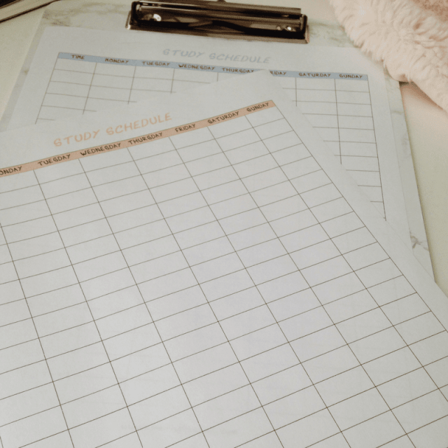 Create a Study Schedule That Actually Works 2
