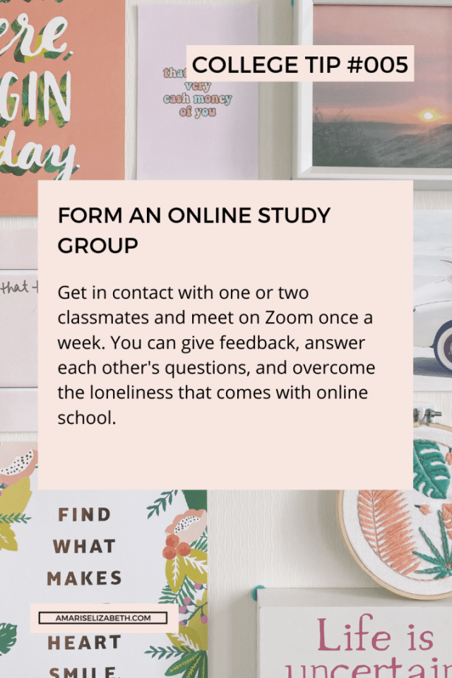 pandemic college tip 5 form an online study group