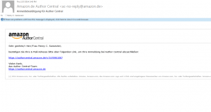 Author Central Confirmation Email