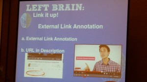 YouTube Session External Link Annotation