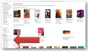 ebook listing on Amazon