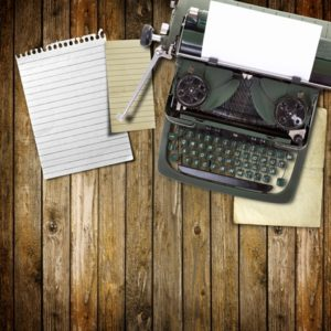writing old fashioned typewriter