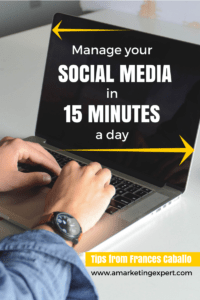 Manage Social Media Frances Caballo Tips AME Guest Blog Post
