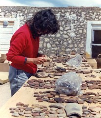 Sorting sherds: Which Pam Rose was able to incorporate into her ongoing study of Amarna's pottery. Her corpus, invaluable for the study of New Kingdom pottery, was published in 2007. You can learn more here: www.amarnaproject.com/pages/recent_projects/material_cult...