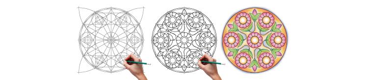 Dessiner un Mandala-Fleur