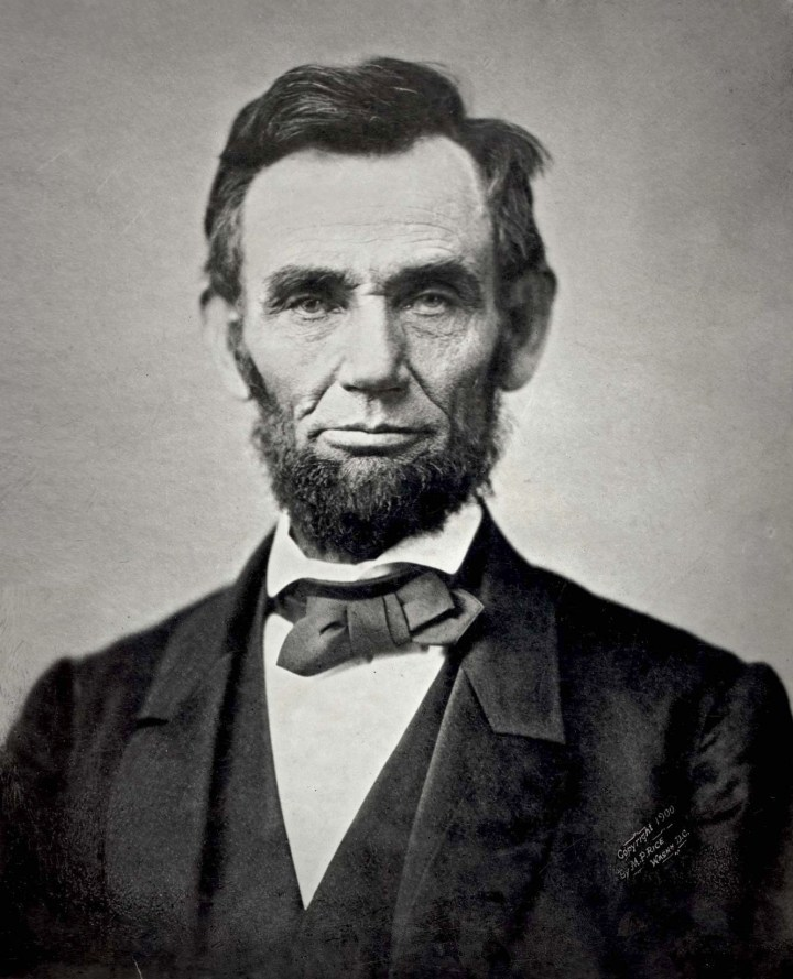 Abraham Lincoln did not have white skin