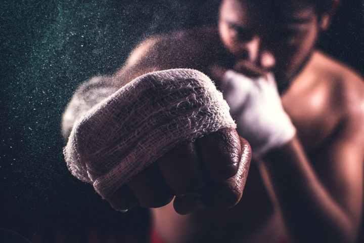 a man punching