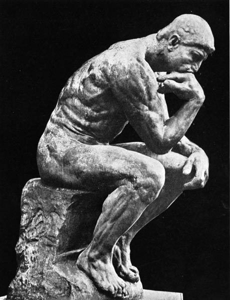 The thinking man. Make some time to think. Thinking is a productive activity. Thinking also makes you a spiritual person.