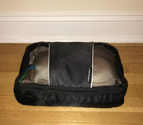 Medium Travel Cube Closed With Two Layers Of Undergarments