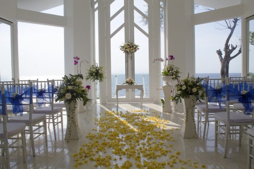 Windy Beach Wedding Event Ceremony Moved Indoors