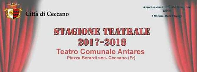 Stagione teatrale a Ceccano, le date della stagione 2017/18 al Teatro Antares