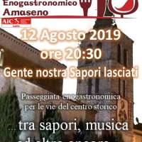 """""""Gente Nostra…Sapori Lasciati"""": stasera il percorso enogastronomico per le vie del borgo di Amaseno"""