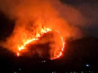 Incendio castro dei volsci