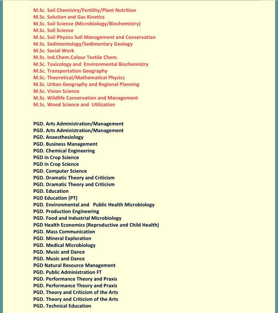 University of Benin Postgraduate