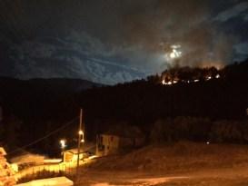 Amasya'da orman yangını yeniden başladı